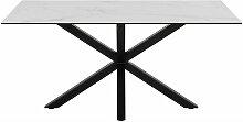 Bobochic - Table à manger LUVIA 160x90 Blanc -