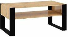 BOBOCHIC Table basse NUKA bois et noir