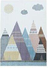 BOBOCHIC Tapis enfant CLOUDY 3 Multicolore 120x170