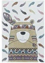 BOBOCHIC Tapis enfant CUTY 3 Jaune 120x170