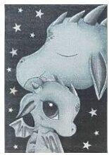 BOBOCHIC Tapis enfant CUTY 6 Bleu 160x230
