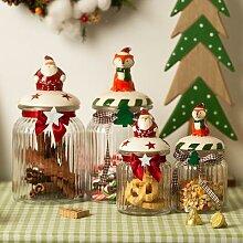 Bocal à bonbons en verre avec couvercle, cadeau