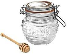 Bocal conservation à miel avec cuillère 400 ml