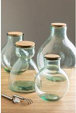 Bocal en verre recyclé transparent Madox A Sklum