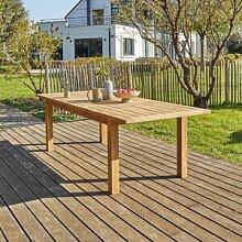 BOIS DESSUS BOIS DESSOUS Table de jardin en teck