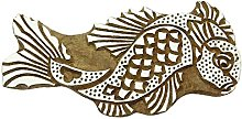 Bois indienne Timbres poisson Timbre Handcarved