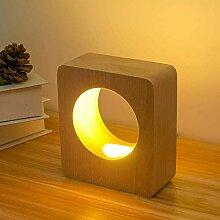 Bois LED Table Bureau Éclairage Lampe Chambre
