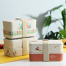 Boîte à Bento pour enfant, en Fiber de bambou,