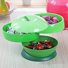 Boîte à bonbons en plastique en forme de pomme,