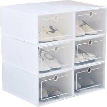 Boîte à chaussures en plastique Transparent,