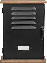 Boîte à clefs noire vintage 20x27,5cm
