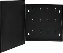 Boîte à clés avec panneau magnétique Noir