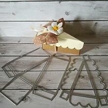 Boîte à gâteaux pliante en métal, matrices de