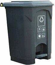 Boîte à ordures Poubelle à pédale de 50 litres