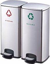 Boîte à ordures Poubelle de grande capacité de