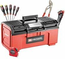 Boite a outils + 19 outils FAC3662424158704