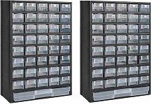 Boîte à outils de rangement avec 41 tiroirs 2