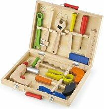 Boîte à outils en bois pour enfant 3ans+ 12