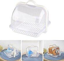 Boîte à pain avec couvercle Transparent,