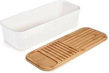 Boîte à pain couvercle bambou 39,5 x 15 cm Ibili