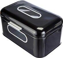 Boîte à pain ECHTWERK - En métal - Noir -30 x