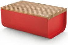 Boîte à pain Mattina / Acier & bambou - 34 x 21