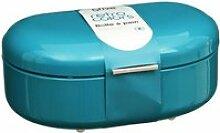 Boîte à pain métal turquoise rc