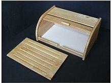Boite à pain planche à découper 2 en 1 en bois