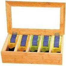 Boîte à thé en bambou - 5 compartiments