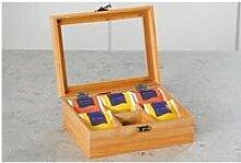 Boîte à thé en bambou - 6 compartiments