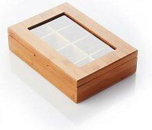 Boîte à thé en bambou - 8 compartiments Point