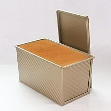 Boîte à Toast rectangulaire en or antiadhésif,
