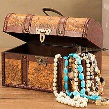 Boîte à trésors décorative pour bijoux, caisse