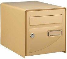 Boîte aux lettres beige simple face Probat -