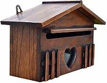 Boîte aux lettres de boîte de courrier en bois