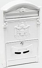 Boite aux lettres Design antique Blanc Boite