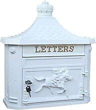Boîte aux lettres rétro à fixation murale pour