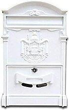 Boîte aux lettres rétro vintage en aluminium à