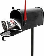 Boite aux lettres US Mailbox Design am?ricain Noir