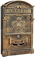 Boîte aux lettres vintage européenne en