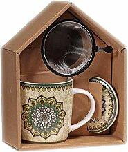 Boîte Cadeau infuseur à thé Mug Mandala - Ver
