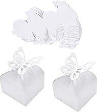 Boîte Cadeau Papillon, 50 Pièces Boîte de