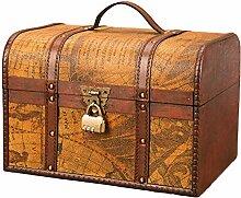 Boîte de Coffre au trésor en Bois, Coffre de