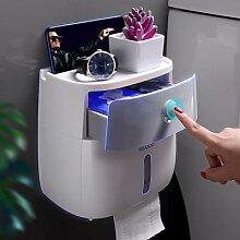 Boîte de papier toilette murale distributeur pour