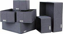 Boîte de Rangement 6 Pièces Organisateur Pliable