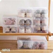 Boîte de rangement à chaussures en plastique