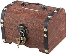 Boîte de rangement au trésor vintage Evazory,