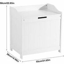 Boîte de rangement - Blanc - Panneau de densité