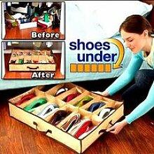 Boîte de Rangement Chaussures 12 paires sous lit