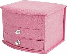 Boîte de rangement de bijoux 4 couleurs 3 couches